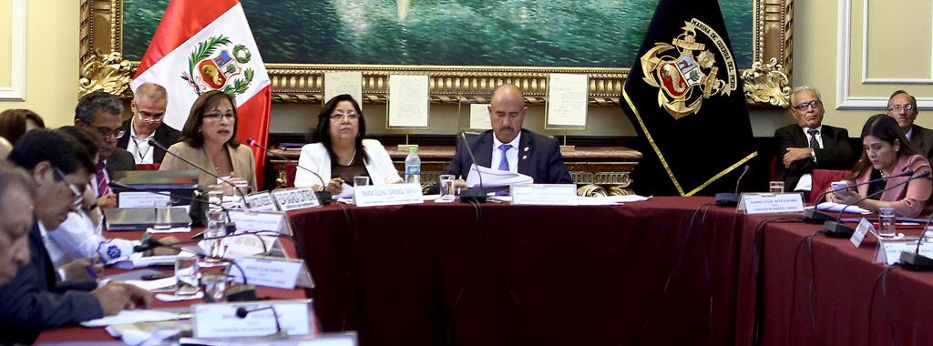 Ministra se presentó en sesión conjunta de Comisiones del Congreso