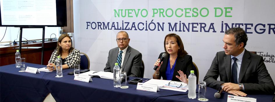 Nuevo Proceso de Formalización Minera Integral beneficiará al pequeño minero y minero artesanal