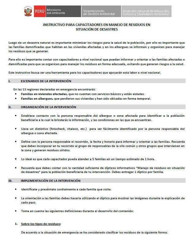 Instructivo Capacitadores_ Manejo de RR en situación Desastres