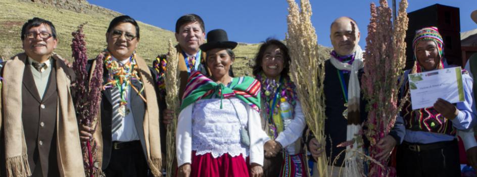 MINAM y aliados destacan y recompensan a comunidades campesinas por preservar la variabilidad de la quinua nativa en Puno