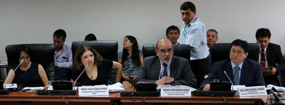 Ejecutivo informó al Congreso avances de la gestión ambiental, sanitaria y de los proyectos de inversión en Espinar