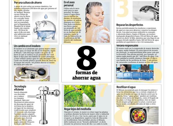 Ocho formas de ahorrar agua publimetro 19 ene 16 for Ideas para ahorrar agua