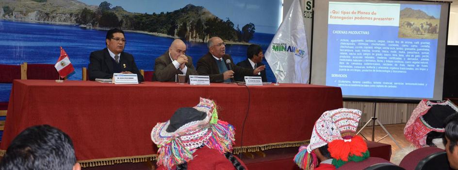 Se inicia Concurso de Planes en Econegocios y Convocatoria para Proyectos Ambientales 2016 en Puno