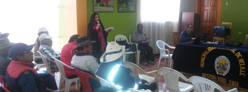 Mesa de Diálogo del distrito de Velille convoca a población de comunidades campesinas para formar parte en el monitoreo ambiental participativo