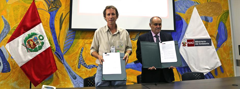 MINAM firma convenio de cooperación con sePerú para el fortalecimiento de capacidades a los contribuyentes de servicios ecosistémicos