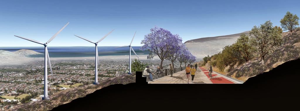Se plantea corredores verdes y parques eólicos que conectarán todo el parque y sus distintos paisajes