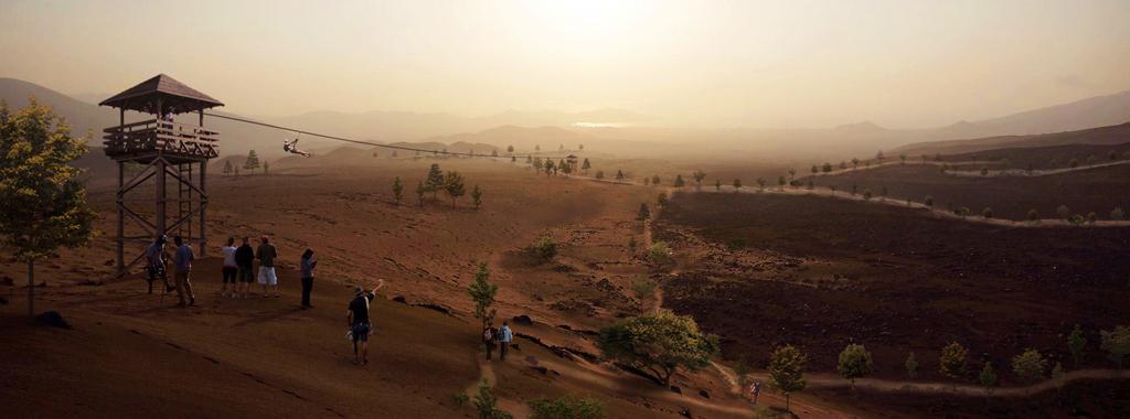 En las zonas paisajísticas se desarrollarán actividades de ocio y deporte como Canopy, éstas se conectarán entre sí mediante senderos peatonales y corredores verdes