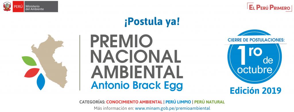 Premio Nacional Ambiental Antonio Brack Egg 2019