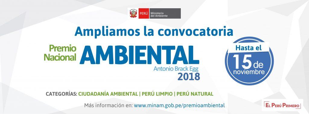 Premio Nacional Ambiental – Antonio Brack Egg 2018