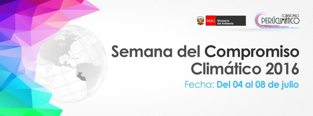 Del 04 al 08 de julio participa de la Semana del Compromiso Climático 2016