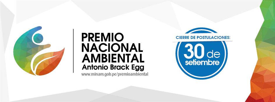 El 30 de setiembre cierra plazo para participar en el Premio Nacional Ambiental 2015 ¡Descarga las bases y participa!