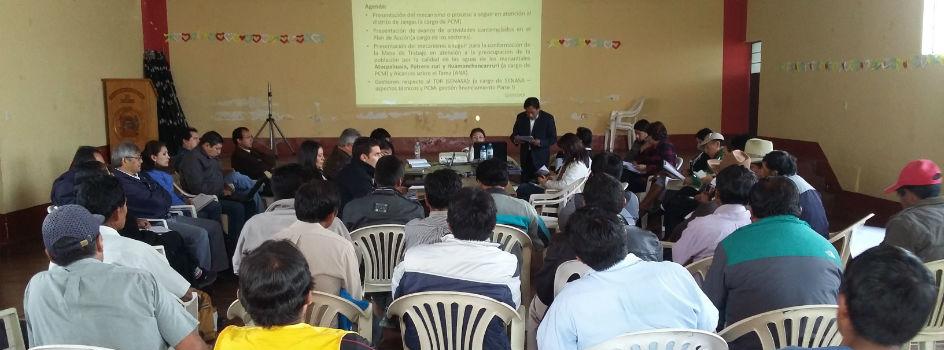 Siguen actividades sectoriales como parte del Plan de Acción Sanitaria y Ambiental en el distrito ancashino de Jangas