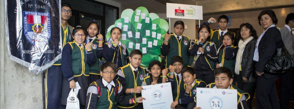 Niños y adolescentes se involucran y brindan aportes sobre Cambio Climático en II Diálogo Ambiental
