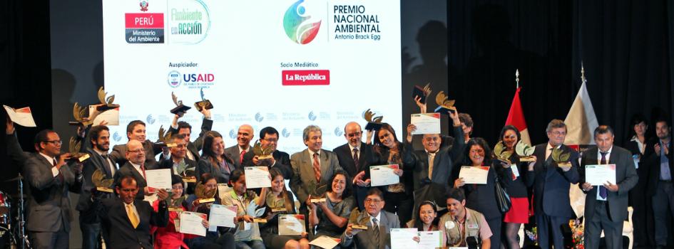 """Felicidades a los 23 ganadores del Premio Nacional Ambiental """"Antonio Brack Egg"""""""