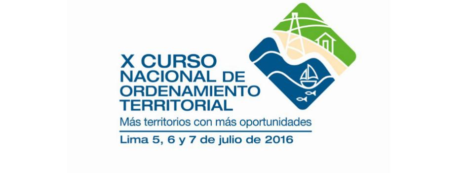 MINAM realizara en Lima el X curso nacional de Ordenamiento Territorial