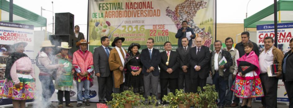 """MINAM participó de la inauguración del Festival Nacional de la Biodiversidad """"Frutos de la Tierra"""""""
