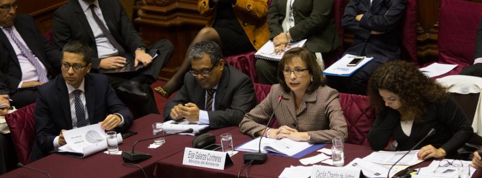 MINAM sustentó presupuesto del sector ante Comisión de Presupuesto y Cuenta General de la República del Congreso
