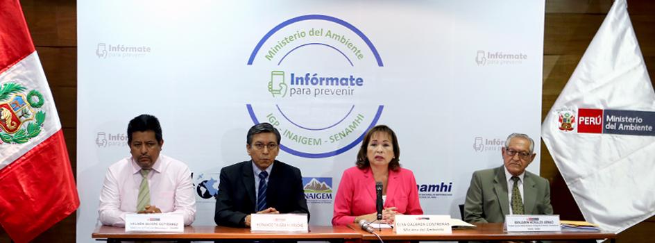 """Ministra del Ambiente: """"Ciudadanos deben informarse para exigir a sus autoridades medidas de prevención"""""""