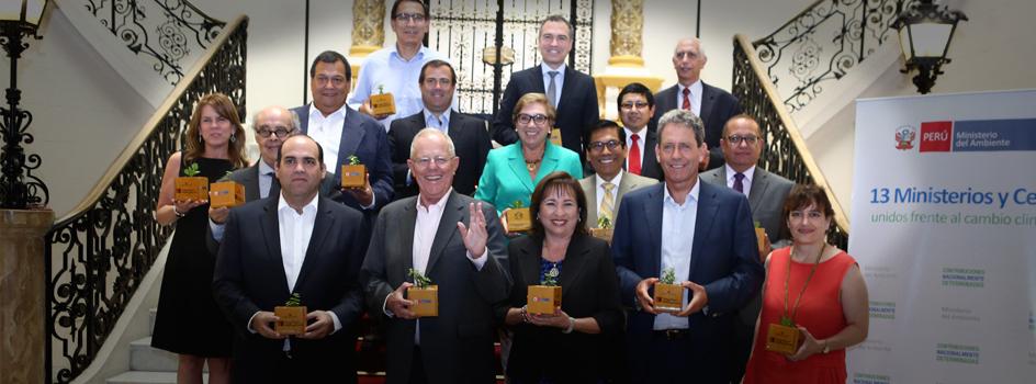 Gobierno peruano reúne a 13 Ministerios y Ceplan para hacer frente al cambio climático