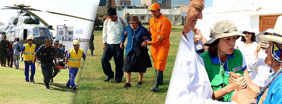 Hoy se evacuaron ciudadanos de Tupe, Ayavirí, Quiñoca y Porococha y se entregó víveres en Huallanchi-Casa Rosada, Casinta, Aucampi, Putinza y San Pedro de Pilas