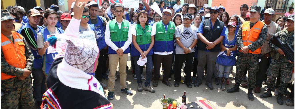 En San Juan de Lurigancho: MINAM realizó jornada de limpieza por el Día de la Tierra