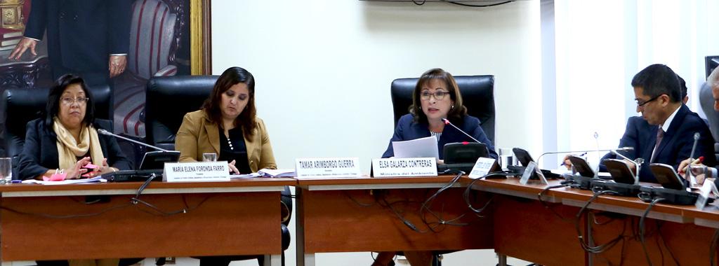 Ministra del Ambiente sustenta Proyecto de Ley Marco sobre Cambio Climático en el Congreso de la República
