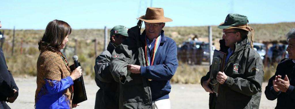 El presidente Pedro Pablo Kuczynski fue nombrado guardaparque honorario por su aporte en la conservación de las áreas naturales protegidas.