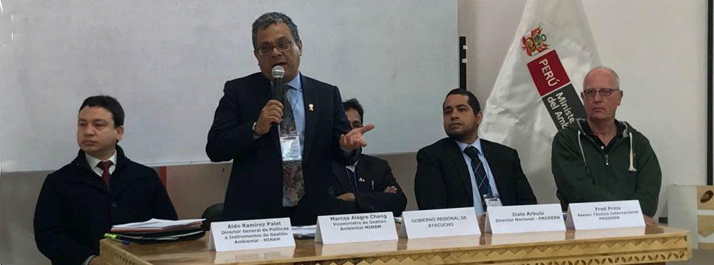 Ministerio del Ambiente organizó taller para gobiernos regionales y locales de seis regiones de la Sierra Centro