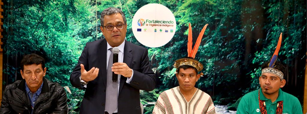 """Viceministro de Gestión Ambiental, Marcos Alegre, inaugura muestra vivencial de logros y desafíos del Proyecto """"Fortaleciendo la Vigilancia Indígena"""""""