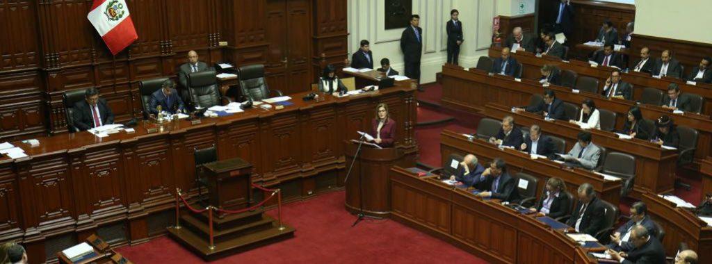 Premier presentó líneas de trabajo de gabinete ministerial en Pleno del Congreso de la República
