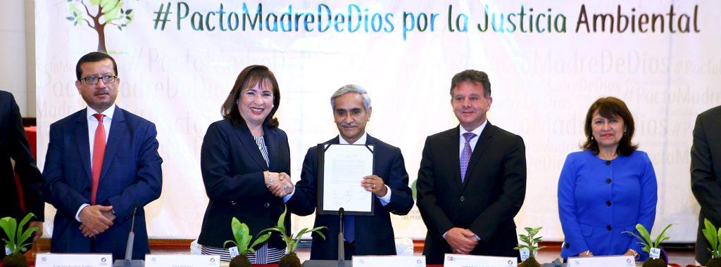 """Ministerio del Ambiente firmó """"Pacto de Madre de Dios por la Justicia Ambiental en el Perú"""" impulsada por el Poder Judicial"""