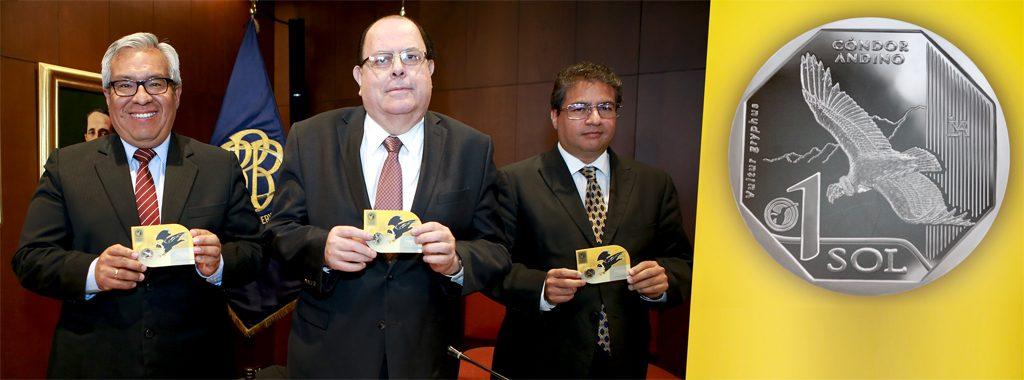 """El cóndor andino es la imagen de la tercera moneda de S/ 1 de la serie numismática """"Fauna Silvestre Amenazada del Perú"""""""