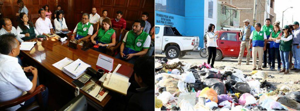 MINAM apoyará a Municipalidad Distrital de José Leonardo Ortiz  para solucionar problema de acumulación de basura