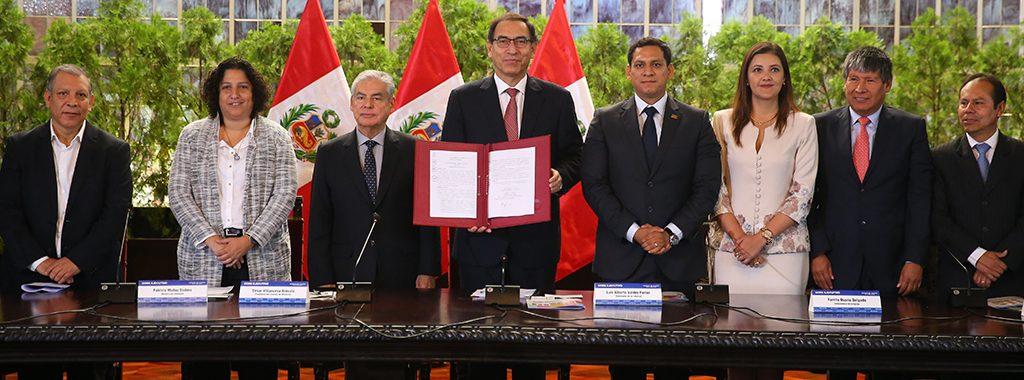 Presidente Martín Vizcarra promulgó histórica Ley Marco sobre Cambio Climático