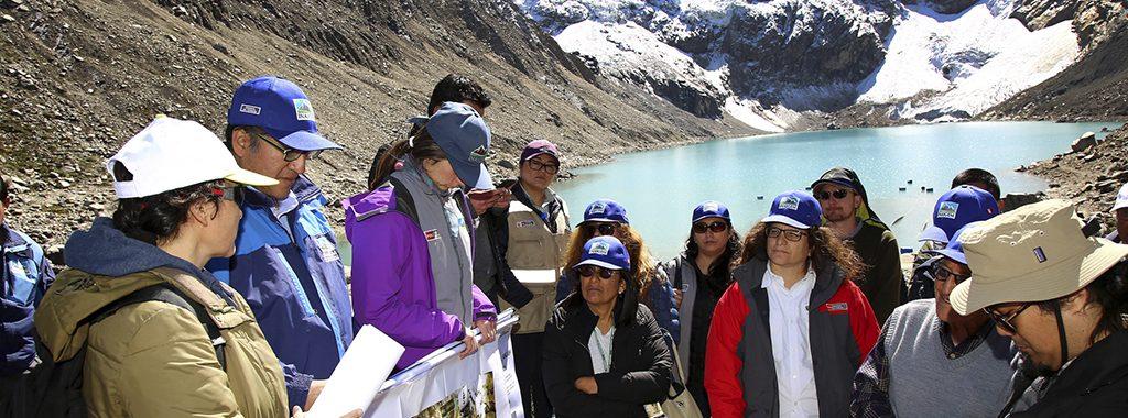 Minamimpulsa la concientización sobre riesgo glacial  en lalaguna Palcacocha