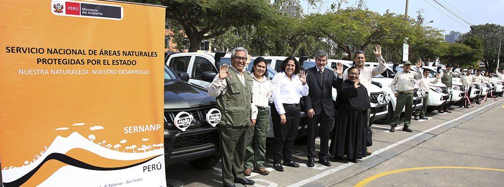 MINAM entrega vehículos a guardaparques para reforzar acciones de control y vigilancia en las áreas naturales protegidas