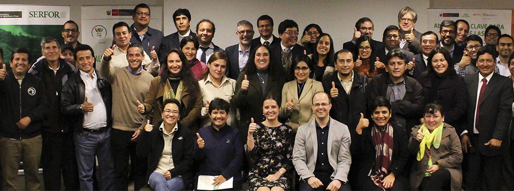 Minam, Sernanp y Serfor acuerdan acciones y medidas a adoptar para la restauración de ecosistemas en 17 regiones