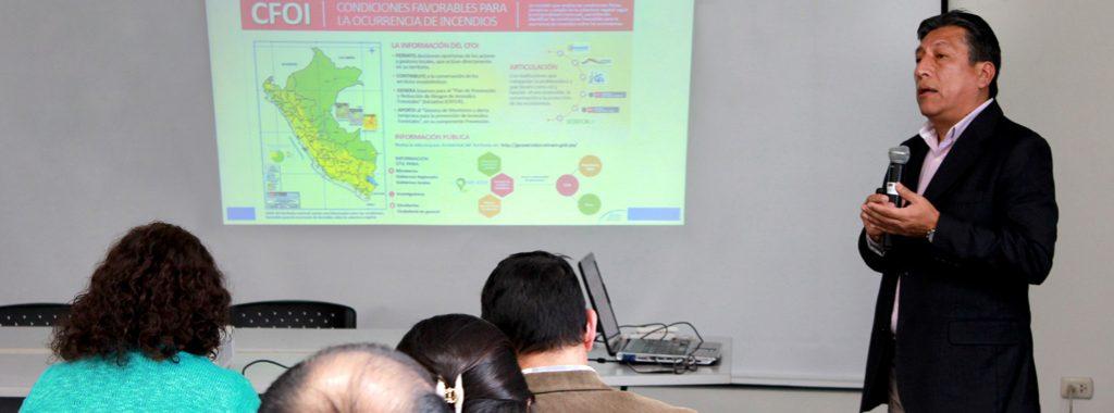 Ministerio del Ambiente desarrolla herramientas que aportan a la gestión de riesgo frente a incendios